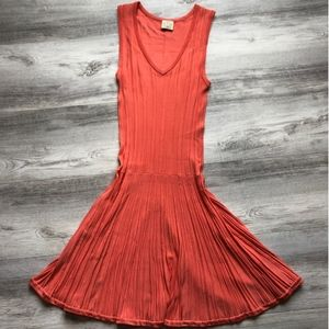Torn by Ronny Kobo Coral Rib Knit Maxi Dress